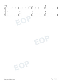 Look Up At The Stars-Shawn Mendes Numbered Musical Notation Preview 6