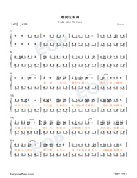 Look Into My Eyes-Numbered-Musical-Notation-Preview-1