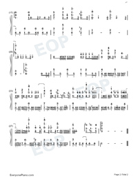 Kago no Naka ni Tori-Sing Yesterday for Me Theme-Numbered-Musical-Notation-Preview-2