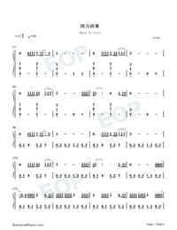 Hard To Live-TikTok Song-Numbered-Musical-Notation-Preview-1