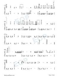 Zuo Ye Shu-Perfect Version-Numbered-Musical-Notation-Preview-2