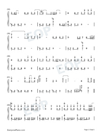 Zuo Ye Shu-Perfect Version-Numbered-Musical-Notation-Preview-3