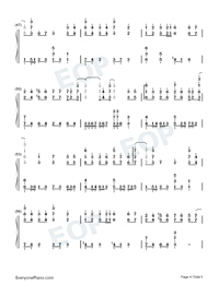 Zuo Ye Shu-Perfect Version-Numbered-Musical-Notation-Preview-4