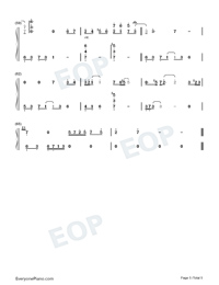 Zuo Ye Shu-Perfect Version-Numbered-Musical-Notation-Preview-5