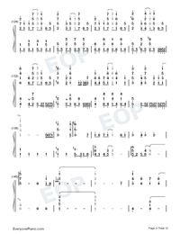 Komorebi no Yell-Uma Musume Pretty Derby ED Numbered Musical Notation Preview 9