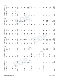 Gasoline-Haim ft Taylor Swift Numbered Musical Notation Preview 2
