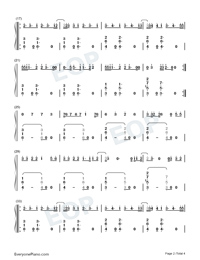 Magic-Kylie Minogue Numbered Musical Notation Preview 2