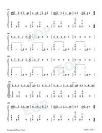 Magic-Kylie Minogue Numbered Musical Notation Preview 3