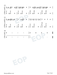 Magic-Kylie Minogue Numbered Musical Notation Preview 4