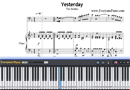 Piano Tutorial for Yesterday - The Beatles