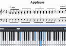 Free Applause - Lady GaGa Piano Sheet Music Tutorial