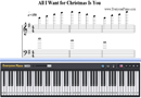 Piano Tutorial for All I Want for Christmas Is You - Mariah Carey