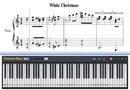 ホワイトクリスマス-クリスマス歌楽譜ピアノ学習