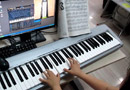 Beyer Piano for Children 89 EOP+midi keyboard piano show