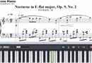 夜想曲第2番-Nocturne in E-flat major, Op. 9, No. 2楽譜ピアノ学習
