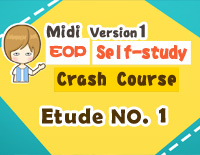 Etude NO.1 of the EOP Self-study Crash Course Midi Version season 1: the Basic Piano Fingering