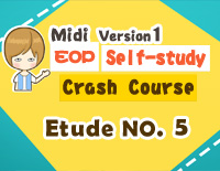 Etude NO.5 of the EOP Self-study Crash Course Midi Version season 1: the Basic Piano Fingering