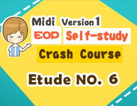 Etude NO.6 of the EOP Self-study Crash Course Midi Version season 1: the Basic Piano Fingering