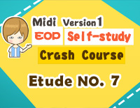 Etude NO.7 of the EOP Self-study Crash Course Midi Version season 1: the Basic Piano Fingering