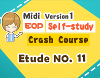Etude NO.11 of the EOP Self-study Crash Course Midi Version season 1: the Basic Piano Fingering