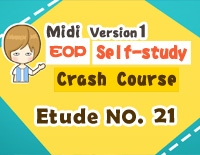 Etude NO.21 of the EOP Self-study Crash Course Midi Version season 1: the Basic Piano Fingering