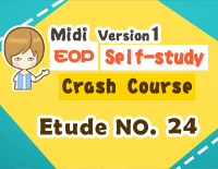 Etude NO.24 of the EOP Self-study Crash Course Midi Version season 1: the Basic Piano Fingering