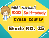 Etude NO.25 of the EOP Self-study Crash Course Midi Version season 1: the Basic Piano Fingering