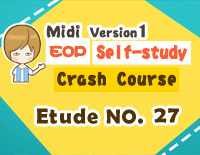 Etude NO.27 of the EOP Self-study Crash Course Midi Version season 1: the Basic Piano Fingering