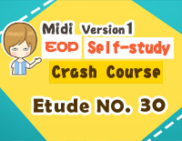Etude NO.30 of the EOP Self-study Crash Course Midi Version season 1: the Basic Piano Fingering