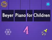 Etude NO.4 of the EOP Self-study Crash Course Midi Version season 2: Beyer Piano for Children