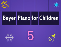 Etude NO.5 of the EOP Self-study Crash Course Midi Version season 2: Beyer Piano for Children