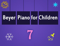 Etude NO.7 of the EOP Self-study Crash Course Midi Version season 2: Beyer Piano for Children