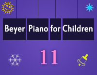 Etude NO.11 of the EOP Self-study Crash Course Midi Version season 2: Beyer Piano for Children