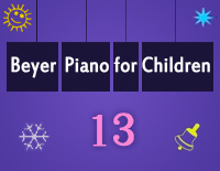 Etude NO.13 of the EOP Self-study Crash Course Midi Version season 2: Beyer Piano for Children