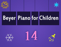 Etude NO.14 of the EOP Self-study Crash Course Midi Version season 2: Beyer Piano for Children