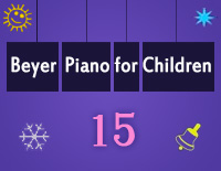 Etude NO.15 of the EOP Self-study Crash Course Midi Version season 2: Beyer Piano for Children