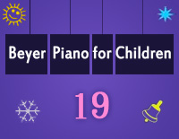 Etude NO.19 of the EOP Self-study Crash Course Midi Version season 2: Beyer Piano for Children