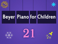 Etude NO.21 of the EOP Self-study Crash Course Midi Version season 2: Beyer Piano for Children