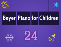 Etude NO.24 of the EOP Self-study Crash Course Midi Version season 2: Beyer Piano for Children