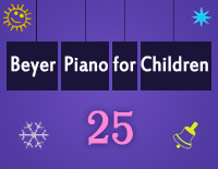 Etude NO.25 of the EOP Self-study Crash Course Midi Version season 2: Beyer Piano for Children