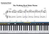 The Walking Dead Main Theme Piano Sheet Music