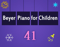 Etude NO.41 of the EOP Self-study Crash Course Midi Version season 2: Beyer Piano for Children