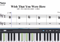 Wish That You Were Here-Miss Peregrine's Home for Peculiar Children theme Sheet Music