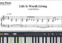 Life Is Worth Living-Justin Bieber-Free Piano Sheet Music