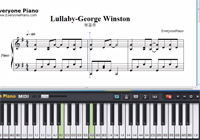 Lullaby-George Winston-Free Piano Sheet Music
