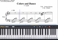 Colors and Dance-George Winston-Free Piano Sheet Music