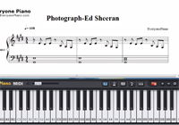 Photograph-Ed Sheeran-Free Piano Sheet Music
