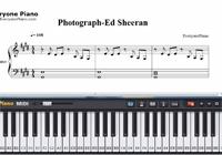 Photograph-Ed Sheeran-Free Piano Sheet Music