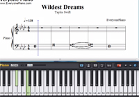 Wildest Dreams-Taylor Swift-Free Piano Sheet Music