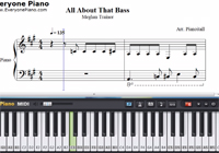 All About That Bass-Meghan Trainor-Free Piano Sheet Music